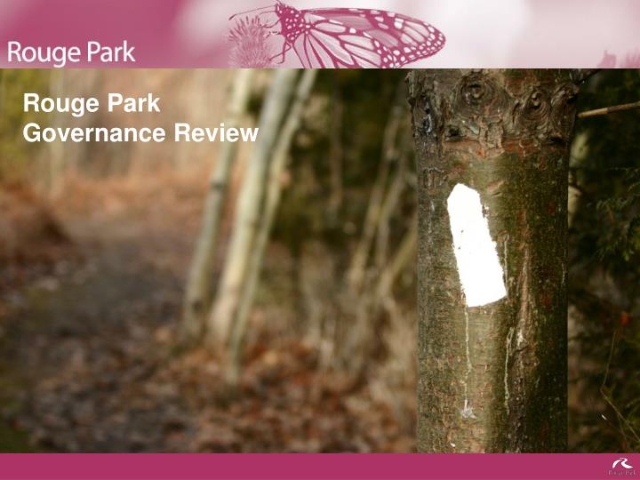 rouge park governance review n.