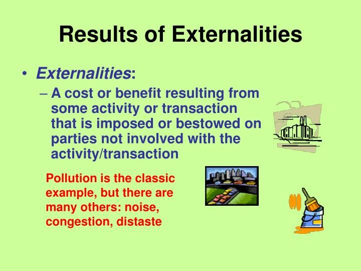 Results of externalities