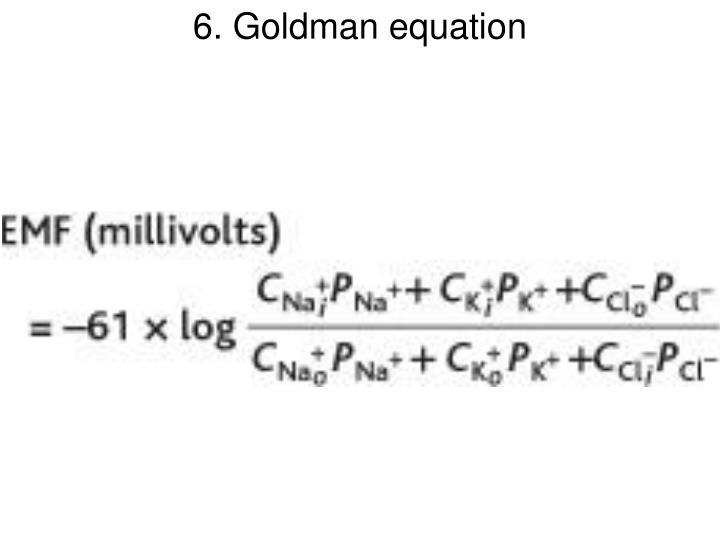 6. Goldman equation