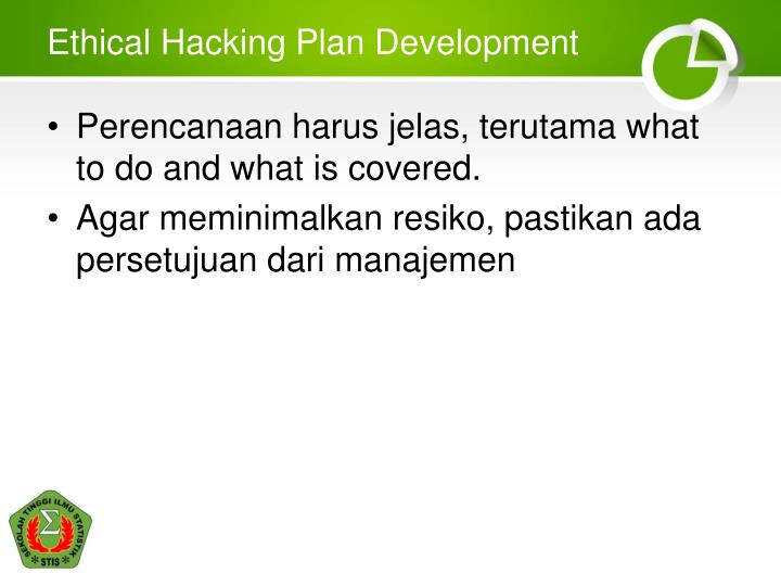 Ethical Hacking Plan Development