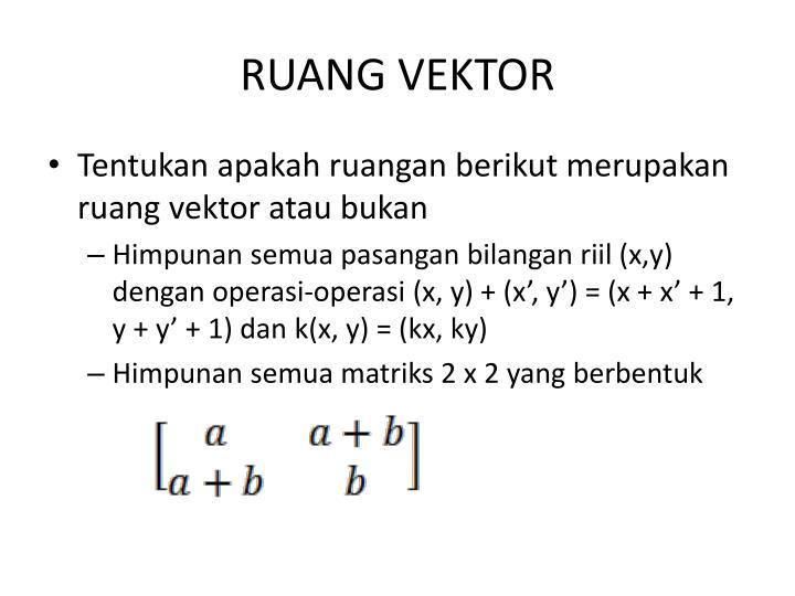 Ruang vektor