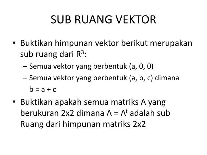 Sub ruang vektor
