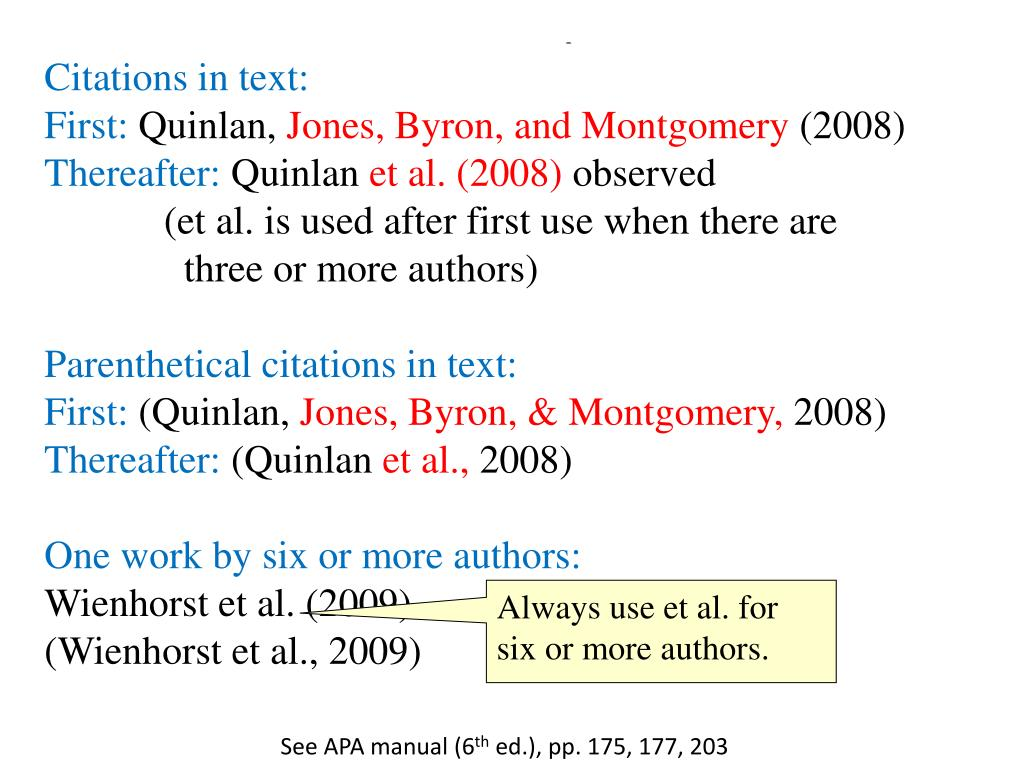 apa et al in text