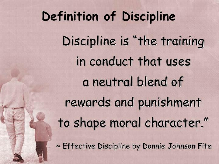 Definition of Discipline