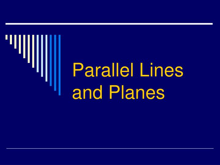 parallel lines and planes n.