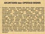 akuntansi dan operasi bisnis