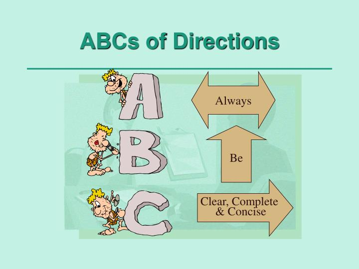 ABCs of Directions