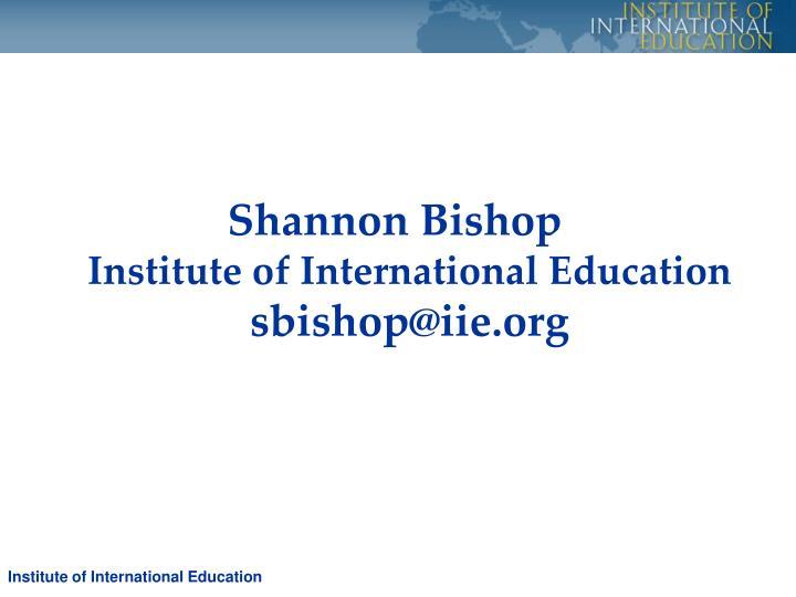 Shannon Bishop