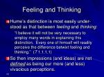 feeling and thinking