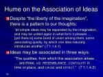 hume on the association of ideas