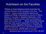 hutcheson on the faculties