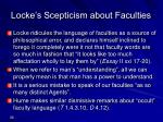 locke s scepticism about faculties
