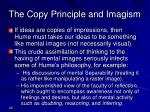 the copy principle and imagism