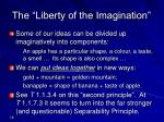 the liberty of the imagination