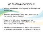 an enabling environment