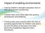 impact of enabling environments