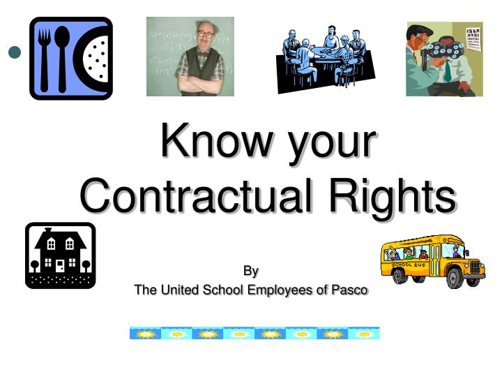 know your contractual rights n.