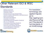 other relevant iso w3c standards