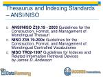 thesaurus and indexing standards ansi niso