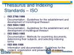 thesaurus and indexing standards iso