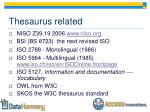 thesaurus related