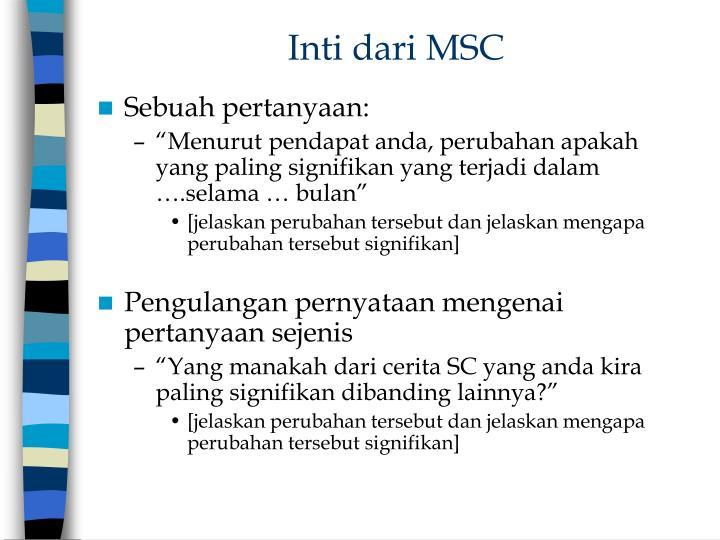 Inti dari MSC