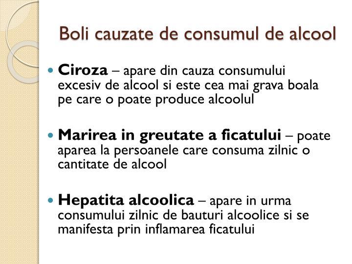 Boli cauzate de consumul de alcool