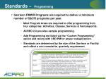 standards programming