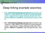 deep linking example searches