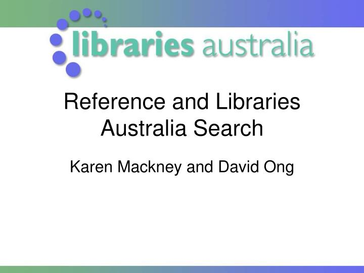 reference and libraries australia search n.