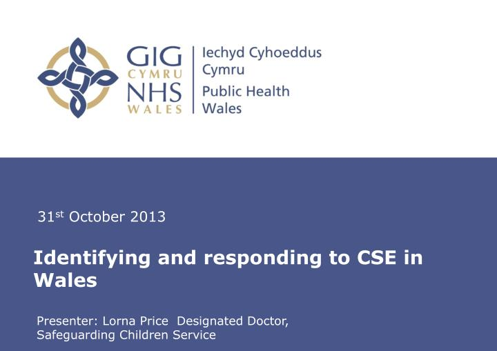 identifying and responding to cse in wales n.