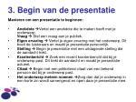 3 begin van de presentatie