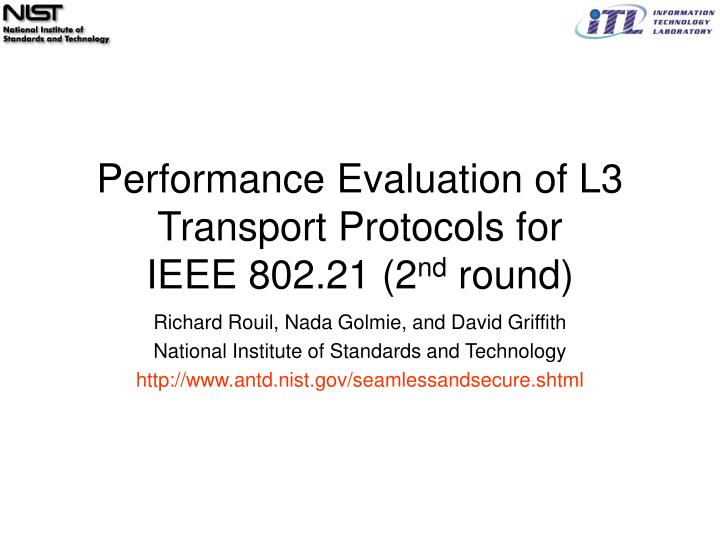 performance evaluation of l3 transport protocols for ieee 802 21 2 nd round n.