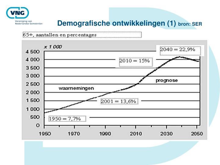 Demografische ontwikkelingen (1)