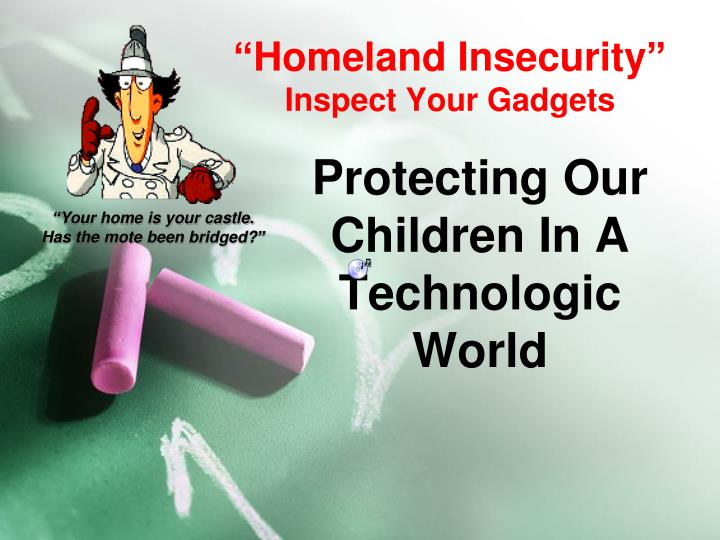 homeland insecurity inspect your gadgets n.