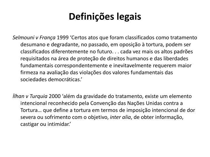 Definições legais