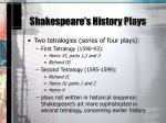 shakespeare s history plays