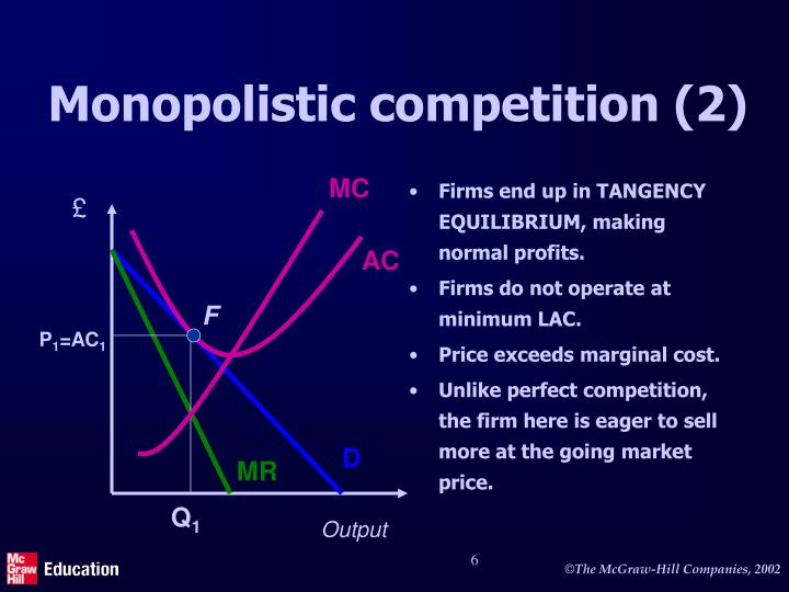 monopoly perfect competition and imperfect competition Imperfect competition - monopoly a market where there is just one producer/seller of a product or service is a monopoly in a monopoly the entry of new competitors is either prevented or highly restricted.