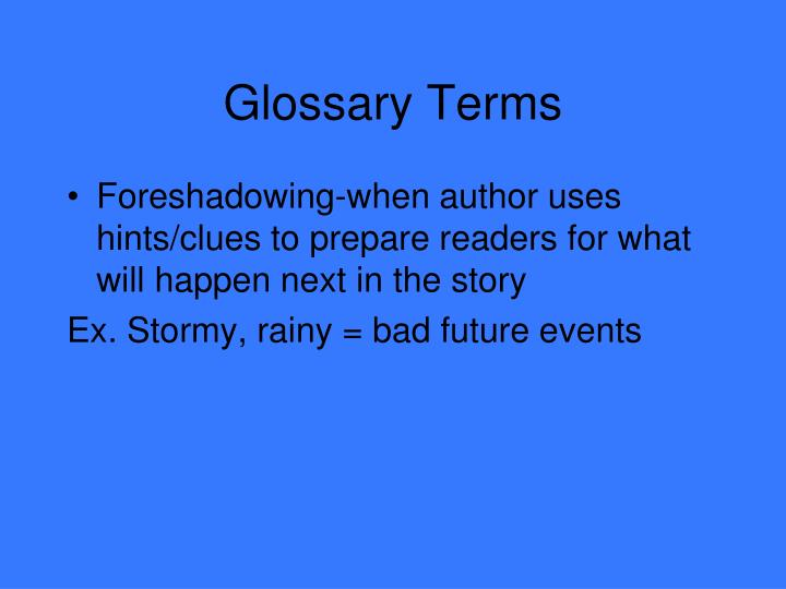 glossary terms n.