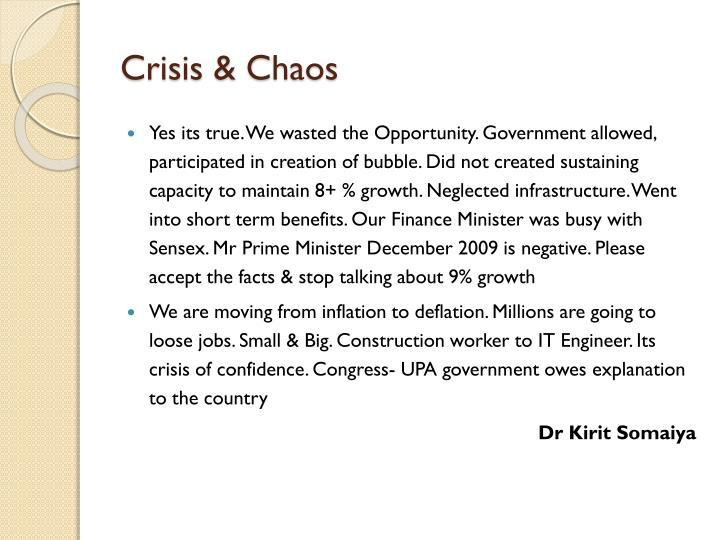 Crisis & Chaos