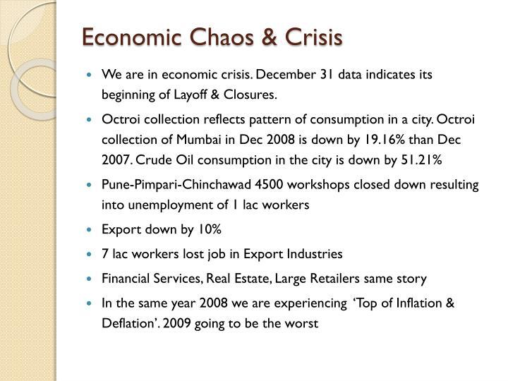 Economic chaos crisis