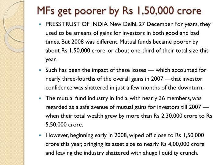 MFs get poorer by Rs 1,50,000