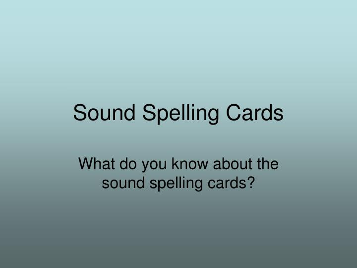 sound spelling cards n.