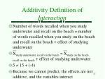 additivity definition of interaction5