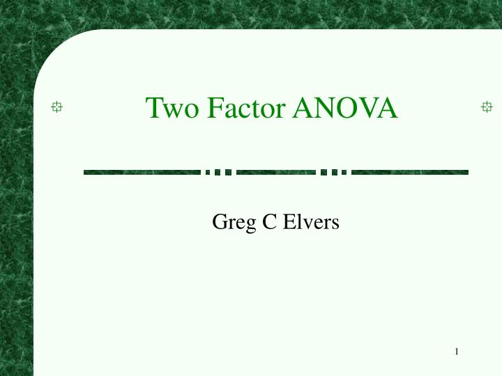 two factor anova n.