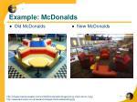 example mcdonalds