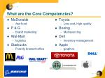 what are the core competencies