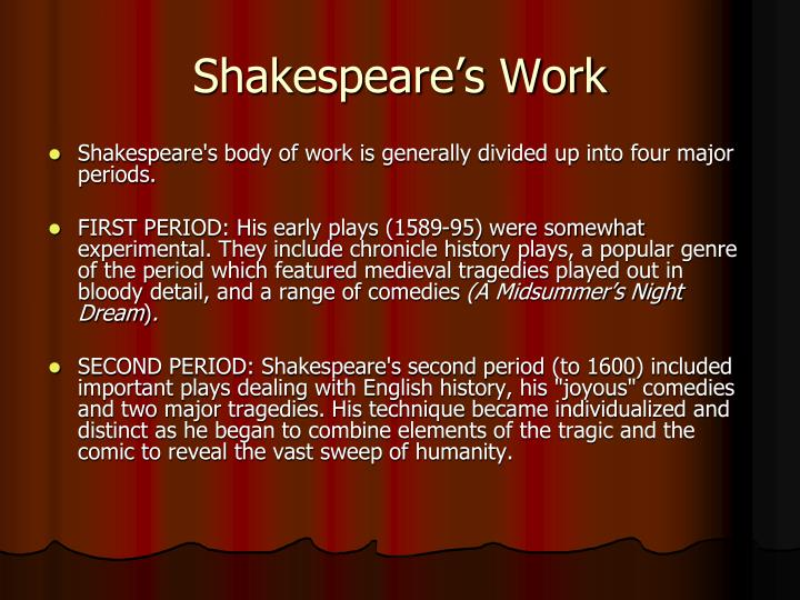 Shakespeare's Work
