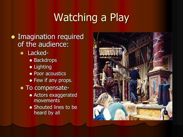 Imagination required of the audience: