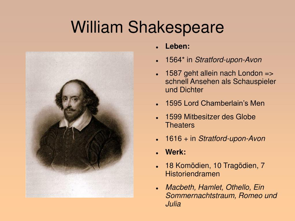 Steckbrief William Shakespeare